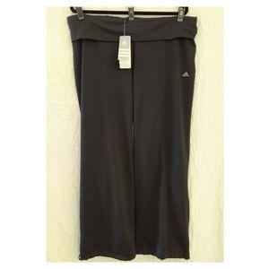 NWT Adidas ClimaLite Wide Leg Yoga Pant